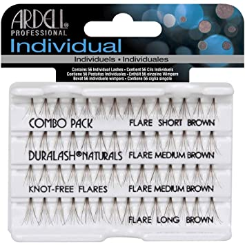 e75dd47f91a Amazon.com : (3 Pack) ARDELL DuraLash Flare Lashes - Combo Brown : Fake  Eyelashes And Adhesives : Beauty