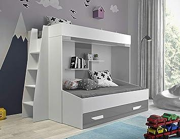 Etagenbett Kinder Grau : Furnistad etagenbett für kinder beta doppelstockbett mit