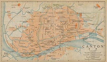 Amazon.com: \'Canton\'. Guangzhou Antique Town City Plan ...