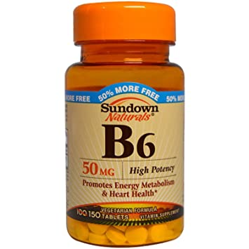 Sundown Naturals Vitamin B-6 50 Mg, 150 Count