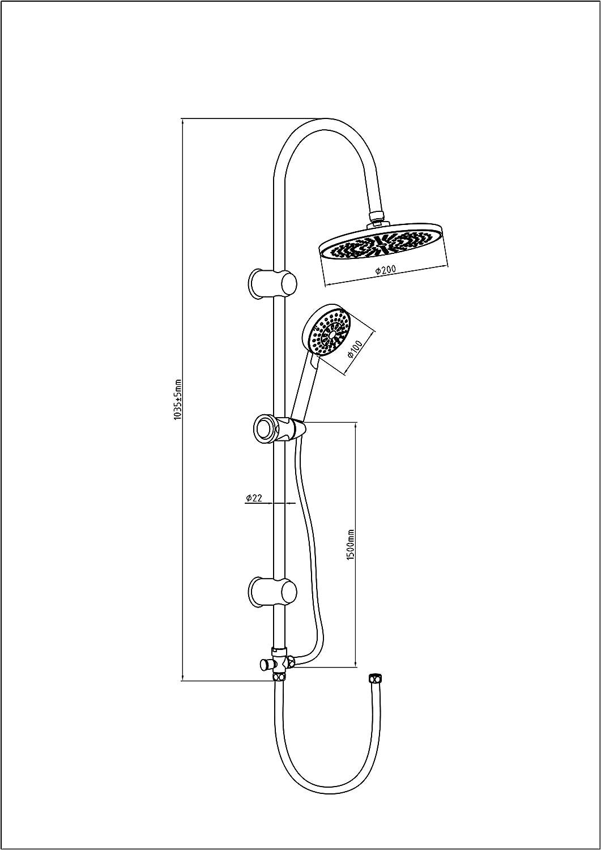 EISL DX12005 Juego de grifería para bañera y ducha, Set de 5 ...