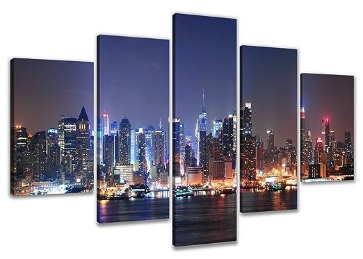 105 opinioni per Visario 5505- Quadro su tela, motivo: New York, 160 cm, 5 pezzi