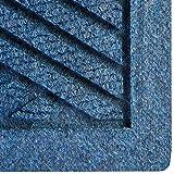 Hudson Exchange Waterhog Diamond Fashion Polypropylene Fiber Entrance Indoor/Outdoor Floor Mat, 35'' L x 35'' W, 3/8'' Thick, Navy