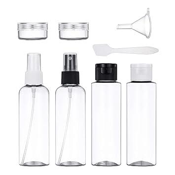 681c735f2 Conjunto De Botellas De Viaje, Plástico Vacío a Prueba De Fugas Envases De  Líquidos Transparentes