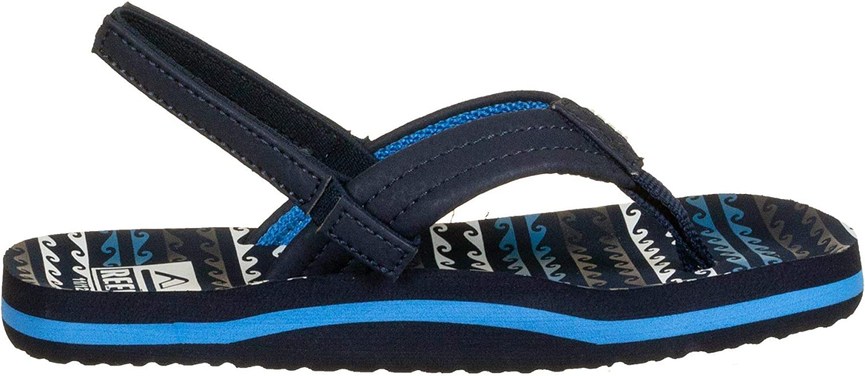 Reef Kids Little Ahi Flip Flops Water Blue