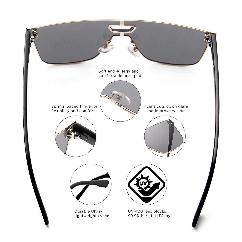 Amazon.com: ANAIS GVANI Gafas de sol retro vintage cuadradas ...