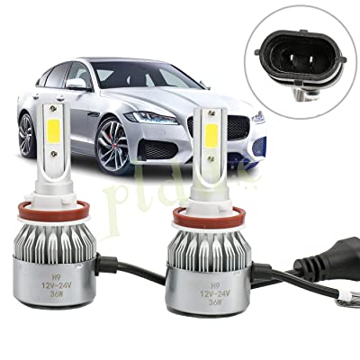 PLDDE 2pcs H11/H8/H9 6000K Cool White 7200LM All-in-One LED COB Bulbs Conversion Kit For Headlights High Low Beam Driving Fog Light Backup Lamp DC 12V/24V IP67 Waterproof Driver+Passenger Replacement: Automotive