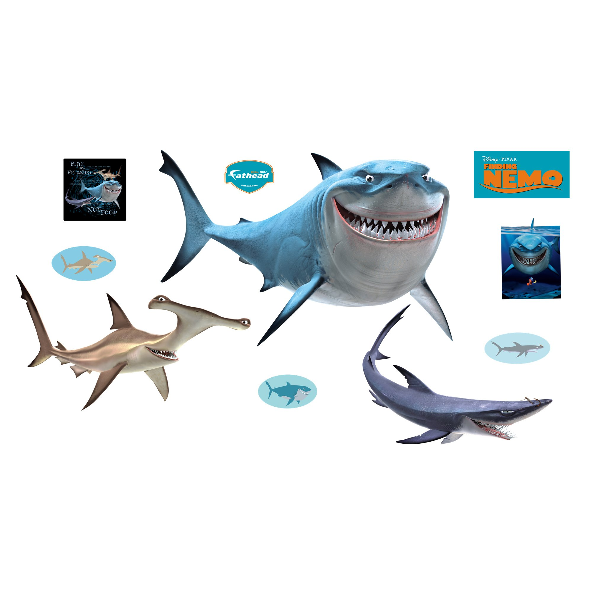 Finding Nemo Sharks Wall Graphic