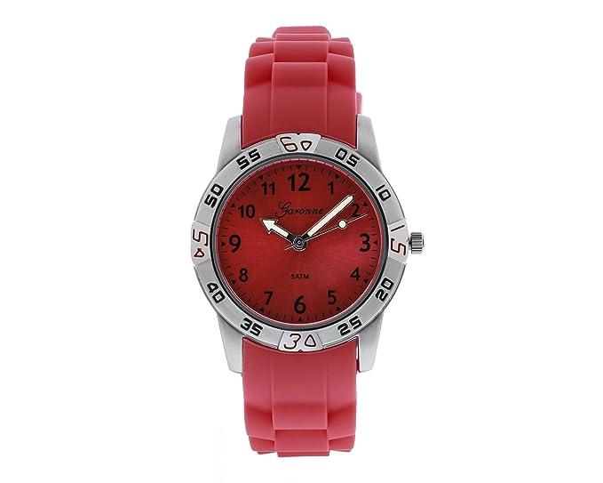 garonne Joven Reloj analógico cuarzo silicona blanco kq24q419