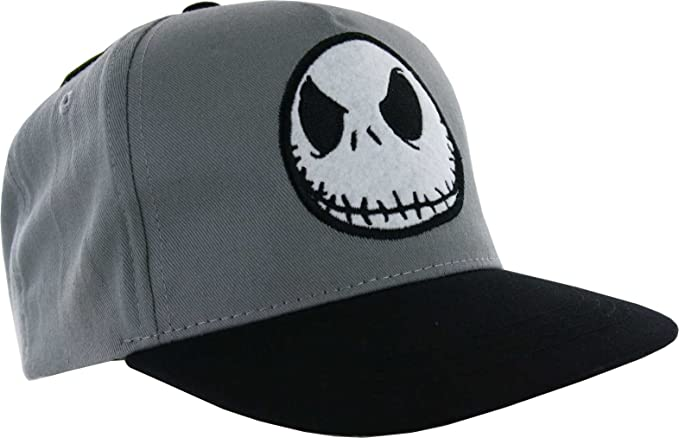 9ae255fdb7797 Image Unavailable. Image not available for. Color  Nightmare Before  Christmas Jack Skellington Faux Wool Cap Grey