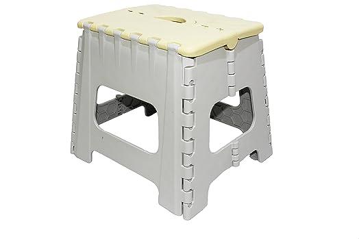 small folding step stool yellow