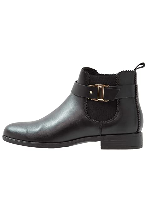 Anna Field Botas Bajas de Mujer - Botines con Tacón y Detalle de Hebilla Elegante - Ankle Boots de Imitación de Cuero - Botas con Pieza Elástica: Amazon.es: ...