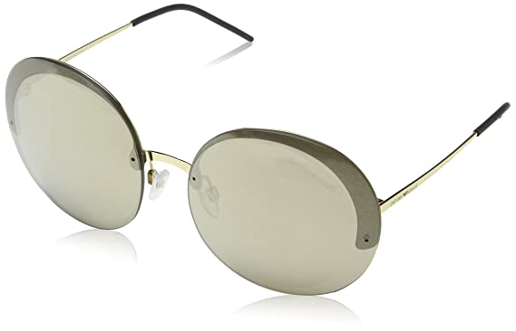 77f2e27286f Image Unavailable. Image not available for. Color  Emporio Armani EA2044  31245A Pale Gold EA2044 Round Sunglasses Lens ...