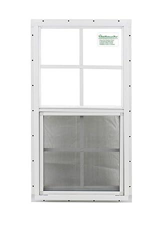 Cobertizo ventana 14 x 27 blanco j-channel cristal de seguridad ventana de juguete: Amazon.es: Bricolaje y herramientas