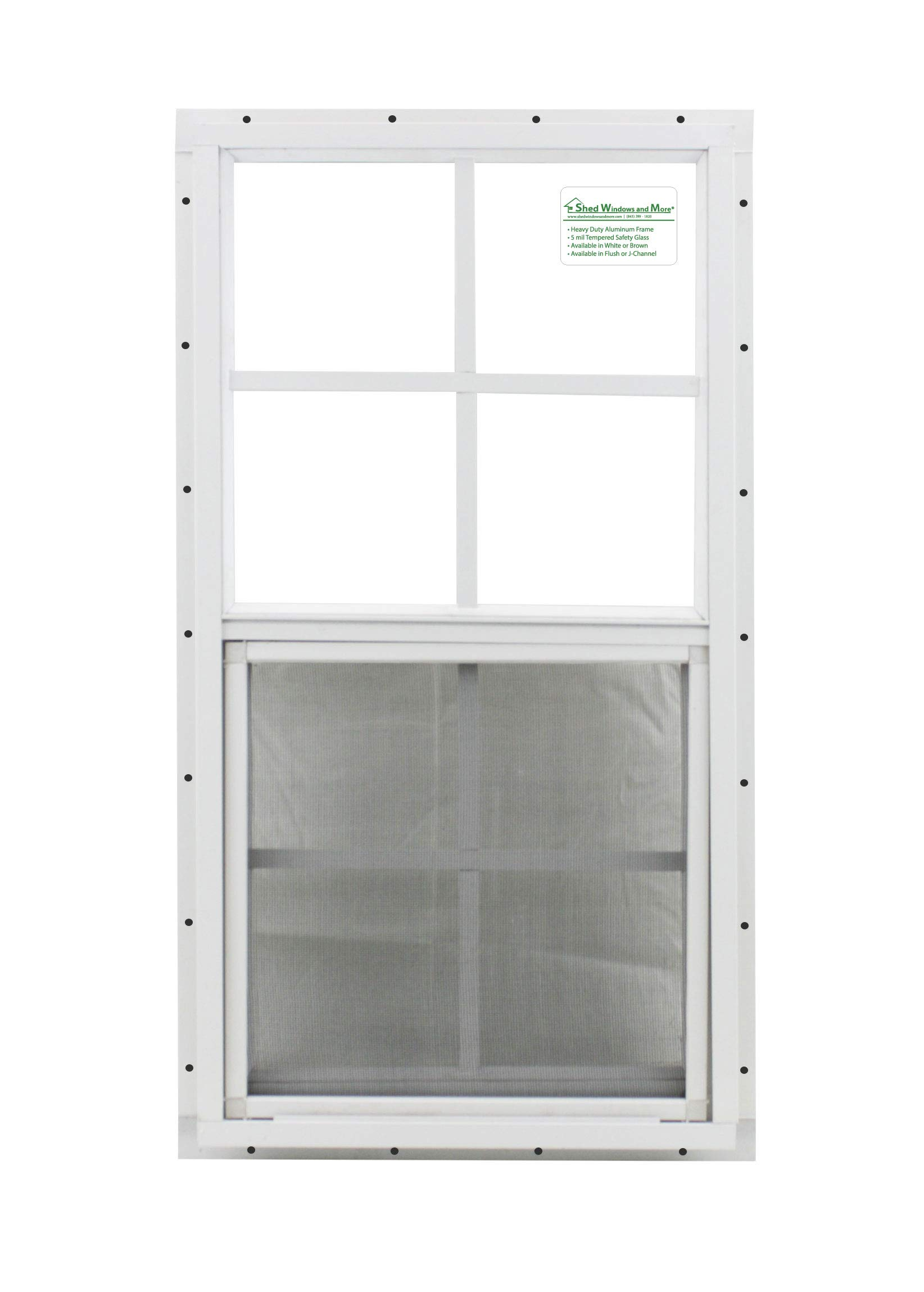 Shed Window 14 X 27 White J-channel Safety Glass Playhouse Window