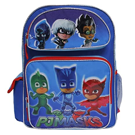"PJ Masks Large 16"" inches School Backpack BRAND NEW - Licensed Product"