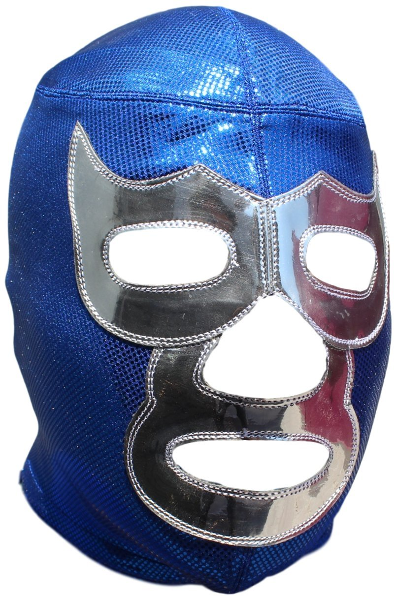Deportes Martinez Blue Demon Professional Lucha Libre Mask Adult Luchador Mask Bright Blue by Deportes Martinez