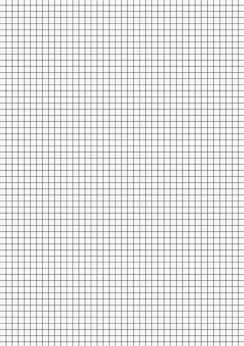 Brunnen 102100850 - Carta millimetrata, 80 g/mq, A4, a quadretti, 50 fogli, bianco