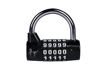 9c0426e06a62 Tumecos 5 Digit Combination Padlock for Gym Locker