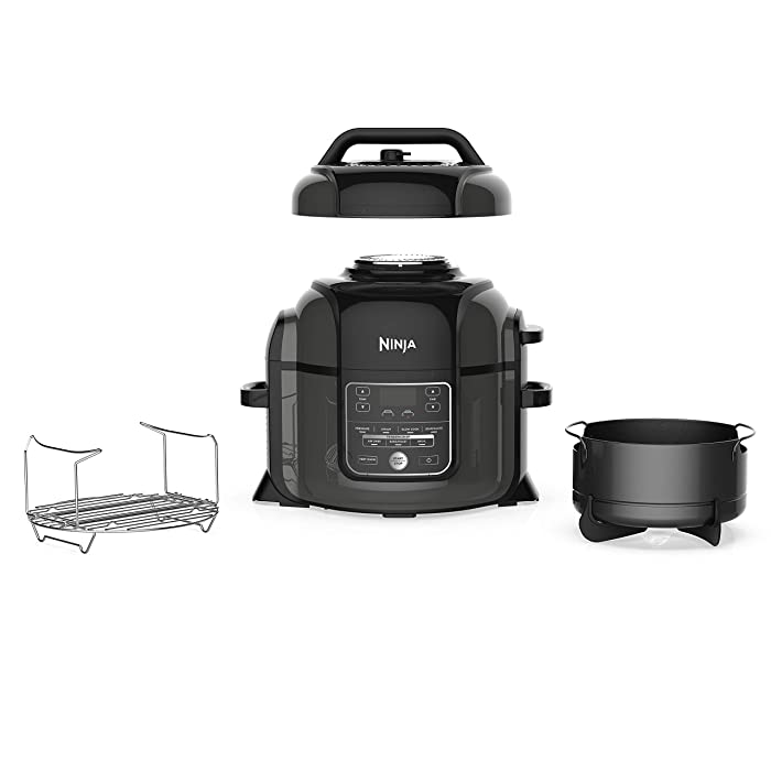 SharkNinja Foodi 1400-Watt Multi Pressure Cooker, Steamer & Air Fryer w/TenderCrisp Technology Pressure & Crisping Lid Medium Black/Gray