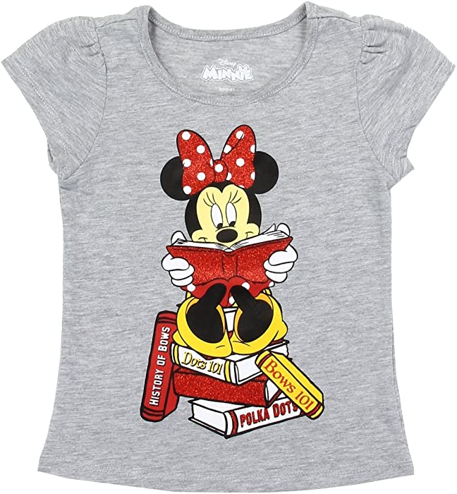 Baby & Toddler Clothing Girls Disney Minnie Grey And Pink Short Sleeve Shirt Size 3t Used