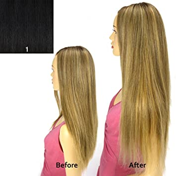 Amazon magic extensions wire hair extensions 20 silky magic extensions wire hair extensions 20quot silky straight jet pmusecretfo Image collections