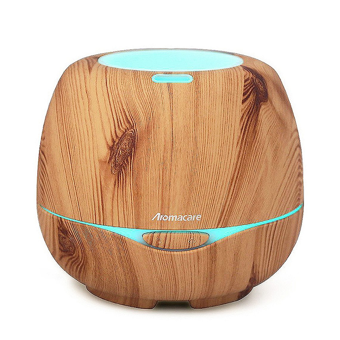 Aromacare Essential Oil Diffuser 300ML, Diffusers for Essential Oils, with Waterless Auto Shut-Off and 7 Color LED Lights, Oil Diffuser for Bedroom Office Spa - Wood Grain