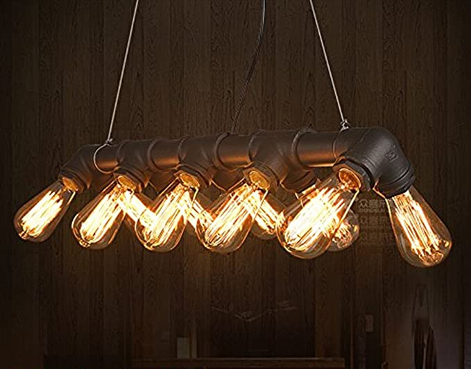 steampunk lighting. Lightess Vintage Industrial Pendant Ceiling Light Steampunk Lamp, Retro Metal Water Pipe Edison Lights Chandelier Lighting S