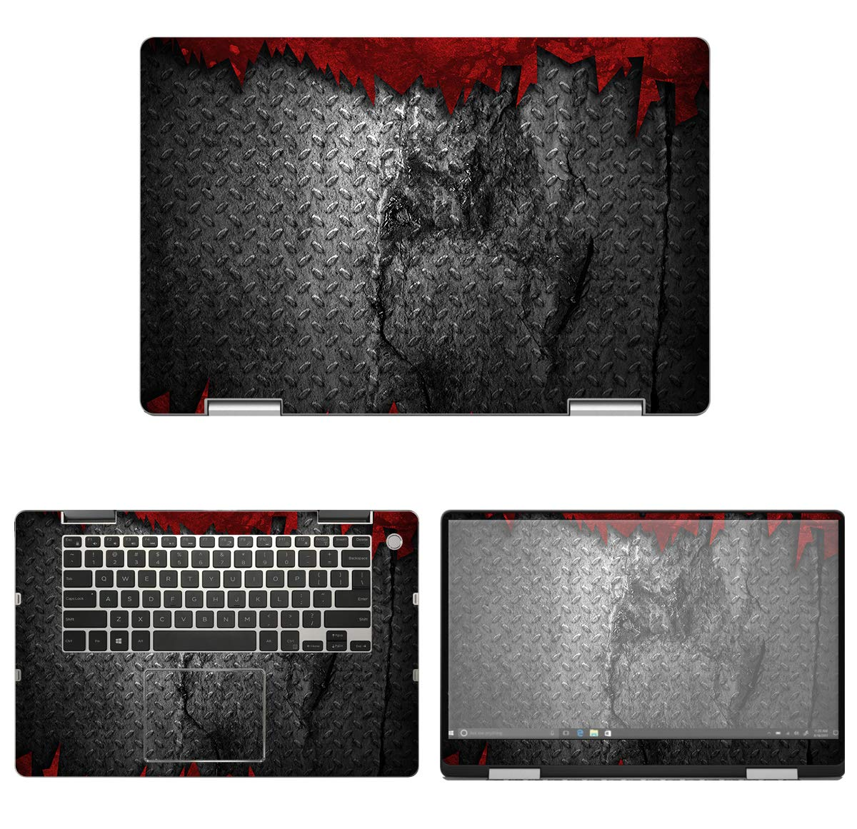 decalrus - Protective Decal Metal Skin Sticker for Dell Inspiron i7586 / 7586 (15.6'' Screen) case Cover wrap DEinspiron15_I7586-112 by decalrus (Image #1)
