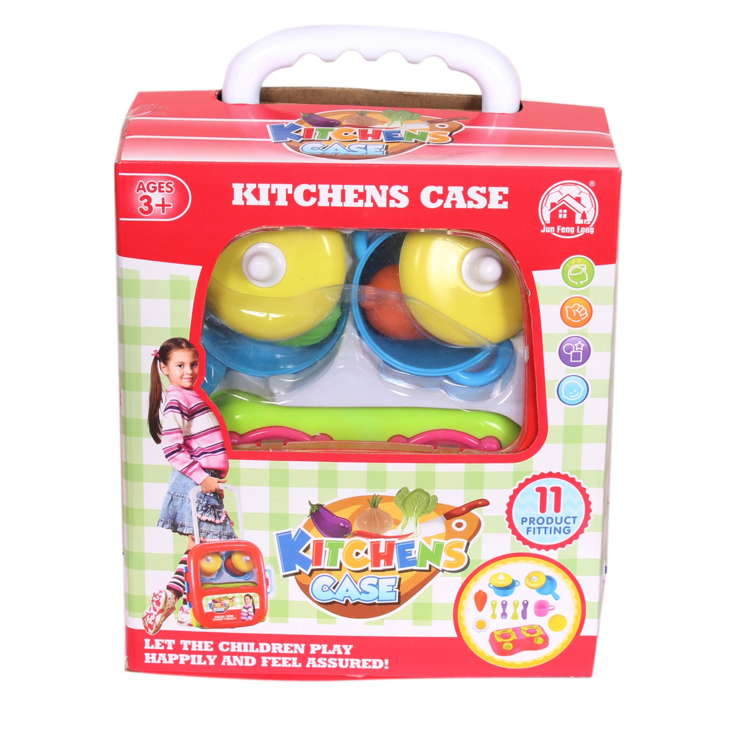 Buy Smartcraft Kitchen Set Trolley Case Pretend Play Charger Fenglong For Kids Cooking Role Kit Children Online At Low Prices In India