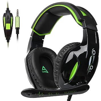 SUPSOO G813 Auriculares Cascos Gaming Auriculares con micrófono de 3,5 mm con cable y