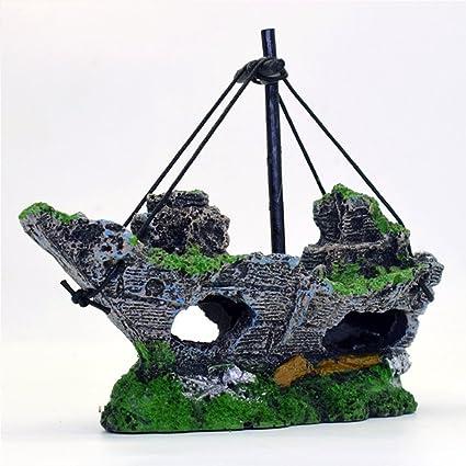 Decoración para acuario, Woopower 14 x 5,5 x 12 cm, resina,
