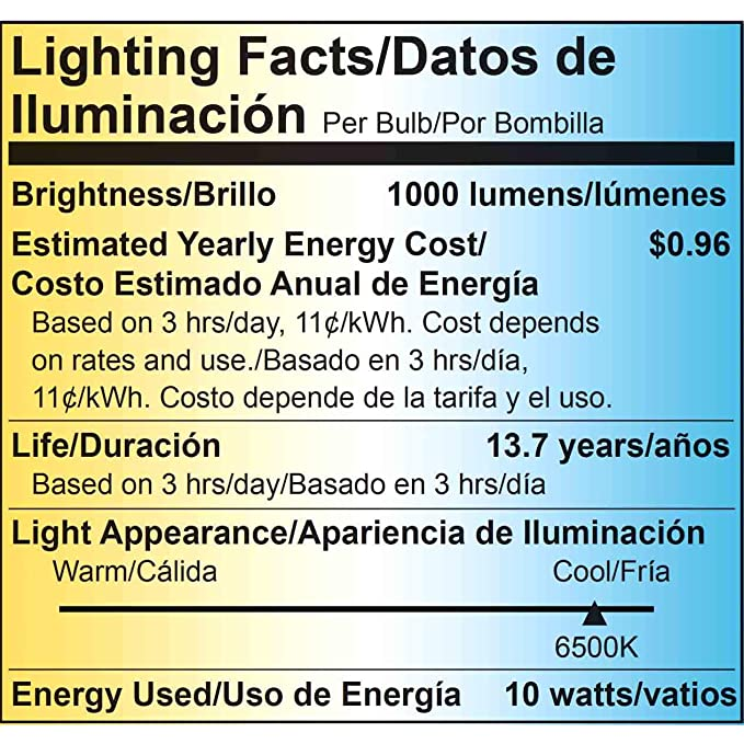 ... Low Voltage LED, Viribright 12-24V DC, (10W) 75 Watt Equivalent Light, 6000K Daylight, Edison Bulb Medium Base E26, 1000 lumens-4 Pack - - Amazon.com