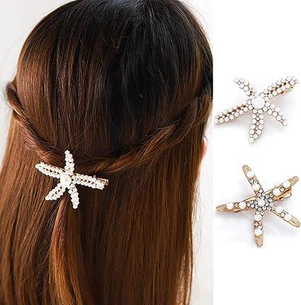 Morsetto di cristallo elegante perla Gioielli per Capelli Clip Fermagli Strass