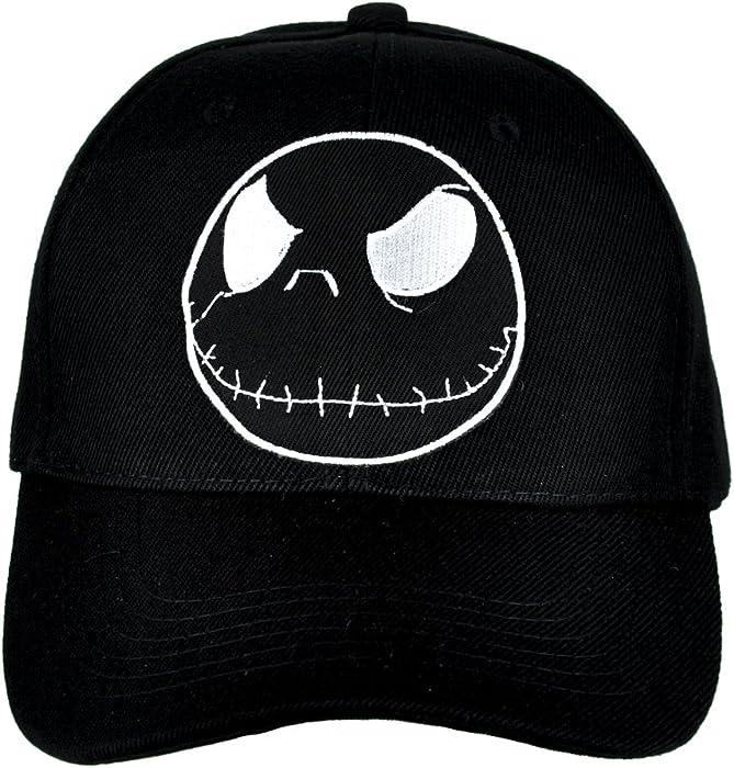 Amazon.com  Jack Skellington Negative Hat Baseball Cap Alternative Clothing Nightmare  Before Christmas  Clothing 09b200e9e088