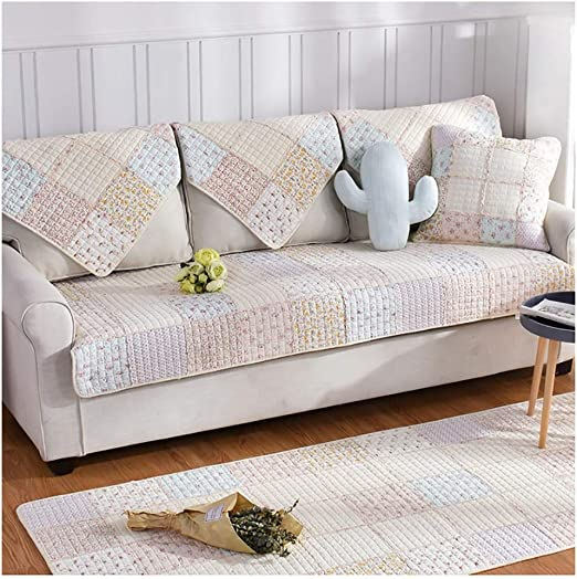 KEANCH Lavado algodón sofá Mat Universal de Cuatro Estaciones Tela Cubierta Funda de sofá, para 1 2 3 cojín de sofá (Color : B, Size : 1pcs50x50cm(Pillowcase)): Amazon.es: Hogar