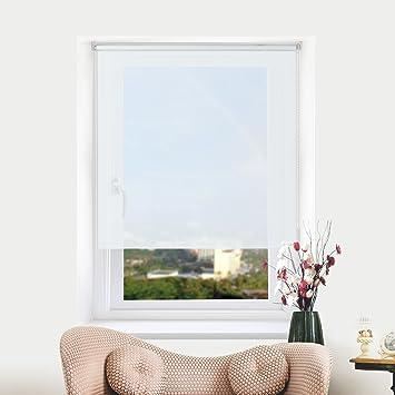 Amazon.de: Rollo Klemmfix Tageslichtrollo ohne Bohren für Fenster ...
