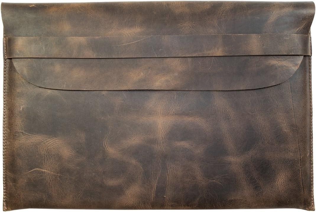 Hide & Drink, Rustic Leather Macbook Case (13 in. Display) Handmade Includes 101 Year Warranty :: Bourbon Brown