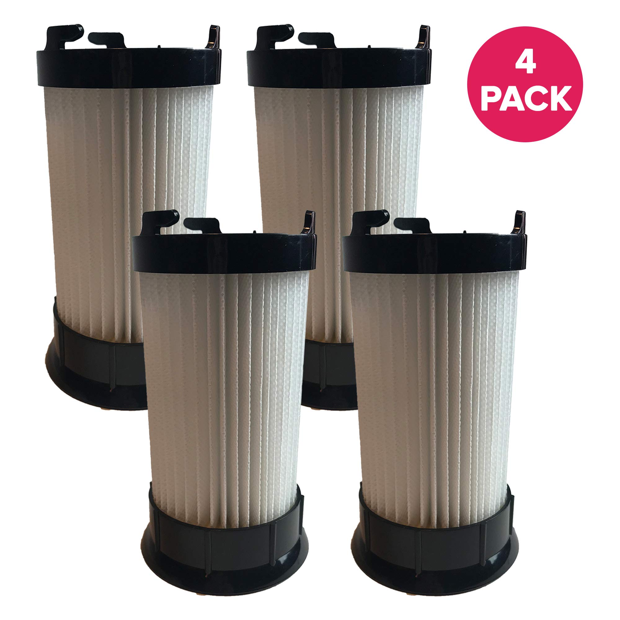Crucial Vacuum Air Filter Replacement - Compatible with Eureka Part # DCF-4, DCF4, DCF-18, DCF18 - Models 4704BLM, 4702A, 4704BLU, 4704FRD, 4704LMP, 4704LTA 4704ONG, 4704PNK, 4704PUR, 4710AV (4 Pack)