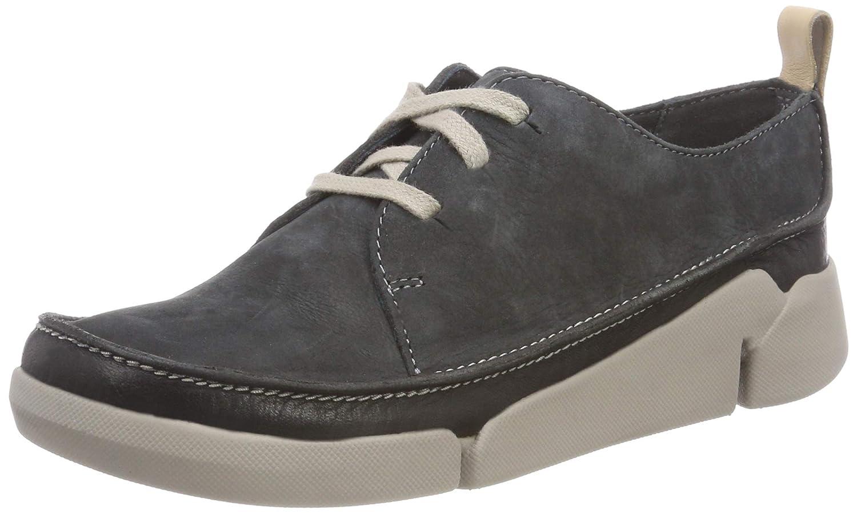 Clarks Tri Clara, Zapatillas para Mujer 39.5 EU Gris (Dark Grey Nubuck)