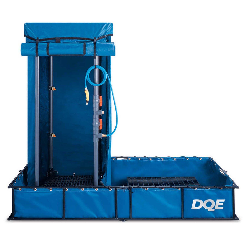 DQE Standard Decon Shower System - Aluminum Pool