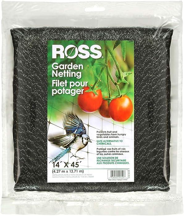 Ross 15720 039044157203 (Multi Netting for Use Around Yard and Garden), 14 feet x 45 feet, Black