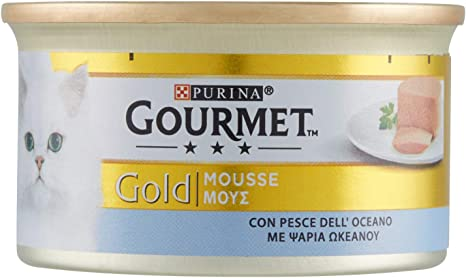 Purina Gourmet Gold Mousse comida para gatos de Pescado del Oceano ...