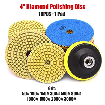 "Dry Diamond Polishing Pads 4/"" 100mm Buffing Disc For Granite Stone Concrete 1Pc"