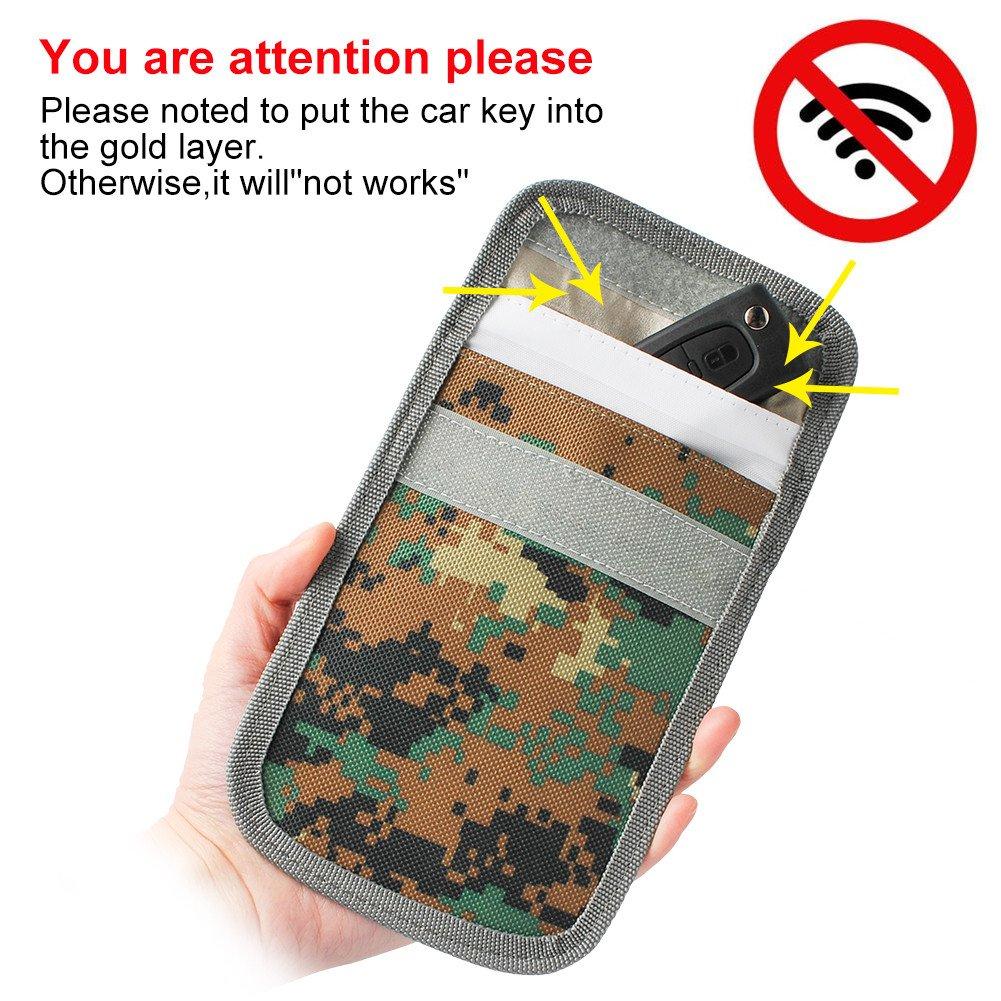 Car Key Signal Blocker Pouch, Signal Blockers, RFID Blocking Key Case, Key Protection Pouch JiuJin