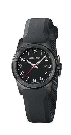Wenger Reloj Analogico para Mujer de Cuarzo con Correa en Silicona 01.0411.136: Amazon.es: Relojes