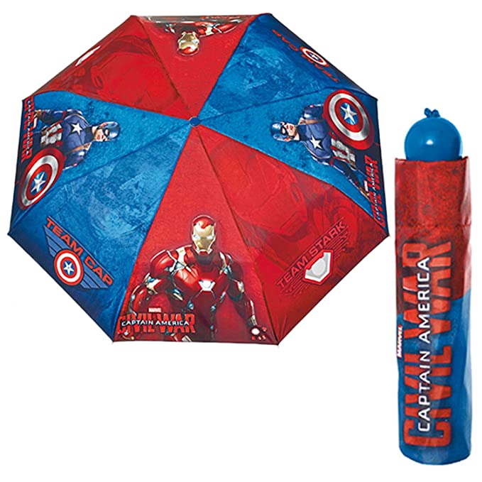 Paraguas antiviento plegable Capitan America Civil War 50cm