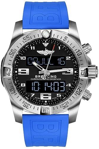 Breitling Exospace B55 titanio Mens Reloj Correa de goma en azul twinpro eb5510h1/be79 - 235S: Amazon.es: Relojes
