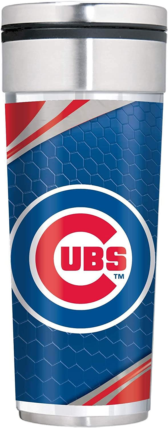 Great American Products Chicago Cubs Big Slim 22 oz Stainless Steel Travel Tumbler w//Metallic Graphics