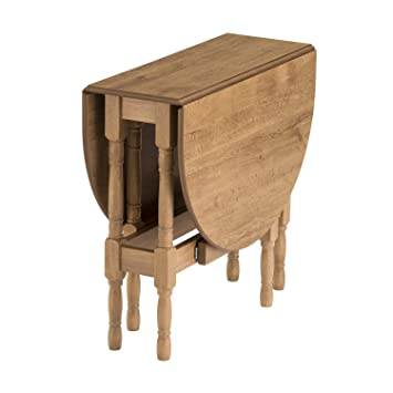 Mood Furniture Heatproof Oval Gateleg Drop Leaf Table Warm Oak